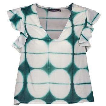 Textil Mulher T-Shirt mangas curtas Antik Batik BAB Branco / Verde