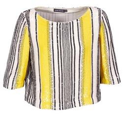 Textil Mulher Tops / Blusas Antik Batik ZABOU Amarelo / Branco / Preto