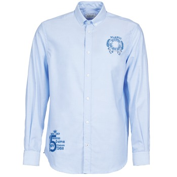 Textil Homem Camisas mangas comprida Serge Blanco ANTONIO Azul