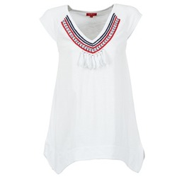 Textil Mulher T-Shirt mangas curtas Derhy GALION Branco