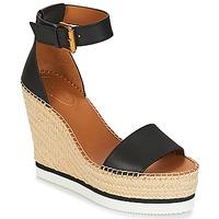 Sapatos Mulher Sandálias See by Chloé SB26152 Preto / Branco
