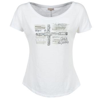Textil Mulher T-Shirt mangas curtas Napapijri SINK Branco