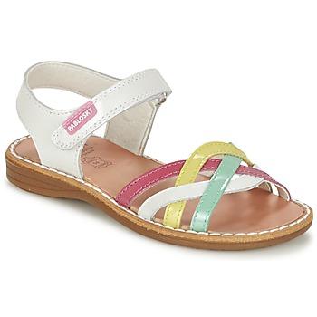 Sapatos Rapariga Sandálias Pablosky ATINA Branco / Multicolor
