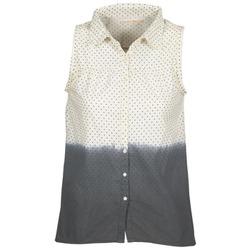 Textil Mulher camisas Teddy Smith CAMILLE Azul / Cru