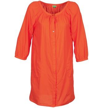 Textil Mulher Vestidos curtos Bensimon FOURTY Laranja