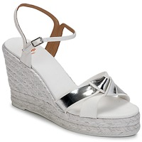Sapatos Mulher Sandálias Castaner BESSIE Branco / Prateado