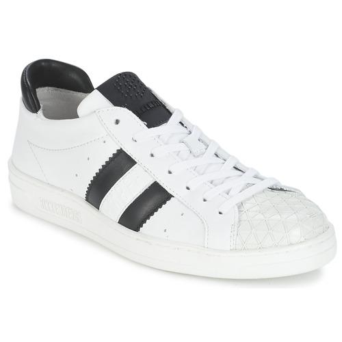 Sapatos Mulher Sapatilhas Bikkembergs BOUNCE 594 LEATHER Branco / Preto