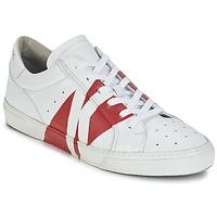 Sapatos Homem Sapatilhas Bikkembergs RUBB-ER 668 LEATHER Branco / Vermelho