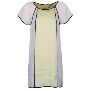 Textil Mulher Vestidos curtos Chipie FREGENAL Amarelo / Cinza