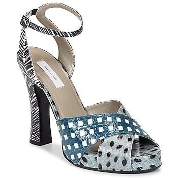 Sapatos Mulher Sandálias Marc Jacobs Elap Azul / Branco