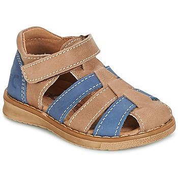 Sapatos Rapaz Sandálias Citrouille et Compagnie FRINOUI Castanho / Azul