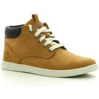 Sapatos Rapaz Sapatilhas de cano-alto Timberland Grvtn Ek Ltr Chk Whe Wheat