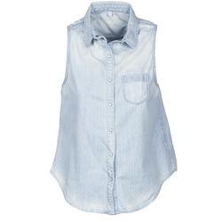 Textil Mulher Camisas mangas curtas Pepe jeans POCHI Azul