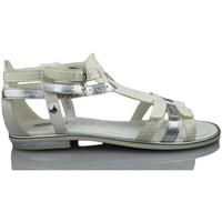 Sapatos Rapariga Sandálias Geox GIGLIO GBK BLANCO