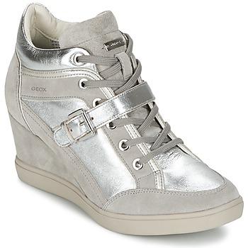 Sapatos Mulher Sapatilhas de cano-alto Geox ELENI C Prateado