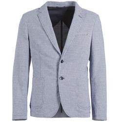 Textil Homem Casacos/Blazers Benetton CHEVOTU Azul