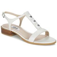 Sapatos Mulher Sandálias Clarks BLISS SHIMMER Branco