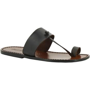 Sapatos Mulher Chinelos Gianluca - L'artigiano Del Cuoio 554 U MORO CUOIO Testa di Moro