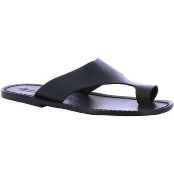 Sapatos Homem chinelos Gianluca - L'artigiano Del Cuoio 521 U NERO CUOIO nero