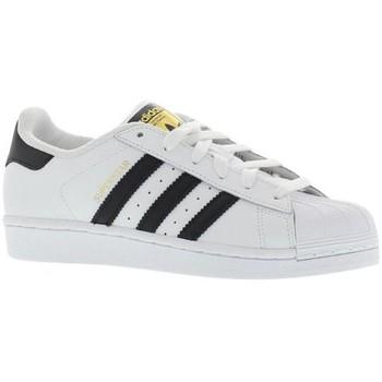 Sapatos Homem Sapatilhas adidas Originals Superstar Blanc / Noir
