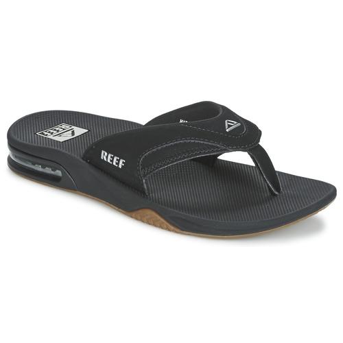 Sapatos Homem Chinelos Reef FANNING Preto