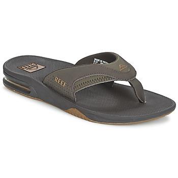 Sapatos Homem Chinelos Reef FANNING Castanho