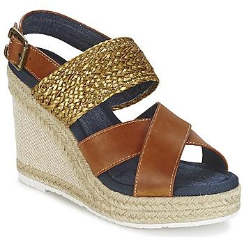 Sapatos Mulher Sandálias Napapijri BELLE Camel / Dourado