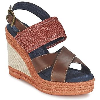 Sapatos Mulher Sandálias Napapijri BELLE Castanho / Escuro / Vermelho