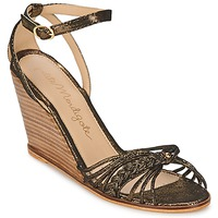 Sapatos Mulher Sandálias Petite Mendigote COLOMBE Preto / Ouro