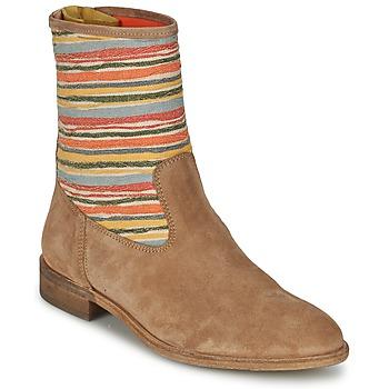 Sapatos Mulher Botas baixas Goldmud COLON Toupeira / Multicolor