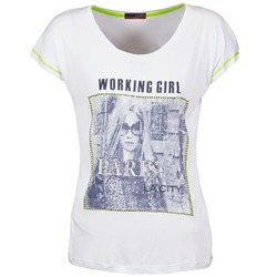 Textil Mulher T-Shirt mangas curtas La City TMCD3 Branco