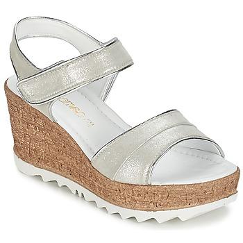 Sapatos Mulher Sandálias Samoa MOJILA Cinza / Branco