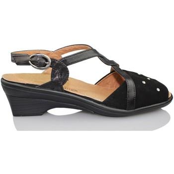 Sapatos Mulher Sandálias Calzamedi SANDALIA ORTOPEDICA MUJER NEGRO