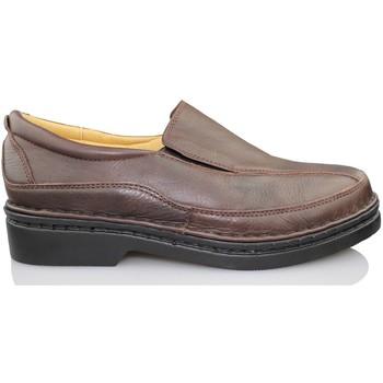 Sapatos Homem Mocassins Calzamedi MOCASIN VESTIR MARRON HOMBRE NEGRO