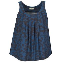 Textil Mulher Tops sem mangas Lola CUBA Azul / Preto