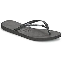 Sapatos Mulher Chinelos Havaianas SLIM CRYSTAL GLAMOUR SWAROVSKI Preto