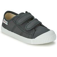 Sapatos Criança Sapatilhas Victoria BLUCHER LONA DOS VELCROS Antracite