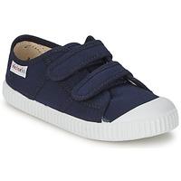 Sapatos Criança Sapatilhas Victoria BLUCHER LONA DOS VELCROS Marinho