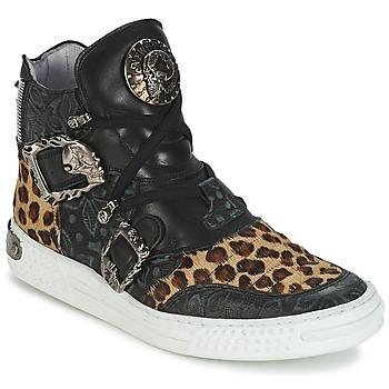 Sapatos Mulher Sapatilhas de cano-alto New Rock ANTERLO Leopardo