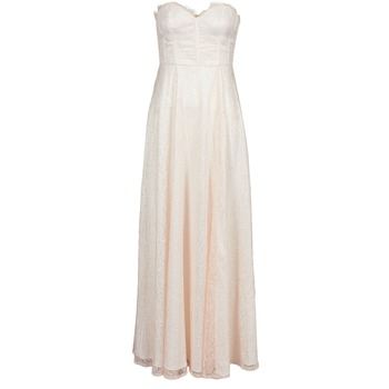 Textil Mulher Vestidos compridos Manoukian 613346 Rosa / Bege