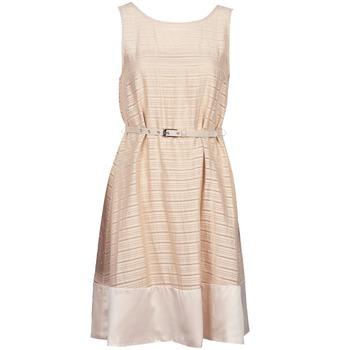 Textil Mulher Vestidos curtos Manoukian 613374 Bege