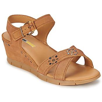 Sapatos Mulher Sandálias Manas  Camel