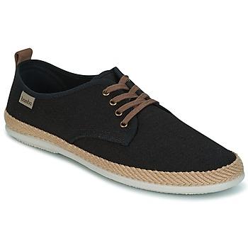 Sapatos Homem Sapatilhas Victoria BLUCHER LINO DETALLE SERRAJE Preto