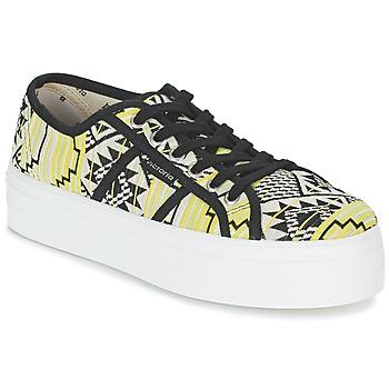 Sapatos Mulher Sapatilhas Victoria BASKET ETNICO PLATAFORMA Preto / Amarelo