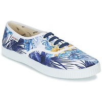 Sapatos Mulher Sapatilhas Victoria INGLES FLORES Y CORAZONES Branco / Azul