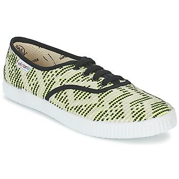 Sapatos Mulher Sapatilhas Victoria INGLES GEOMETRICO LUREX Bege / Limão / Preto