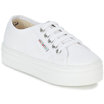 Sapatos Rapariga Sapatilhas Victoria BASKET LONA PLATAFORMA KIDS Branco