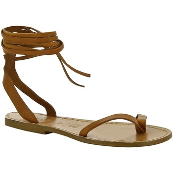 Sapatos Mulher Sandálias Gianluca - L'artigiano Del Cuoio 534 D CUOIO CUOIO Cuoio