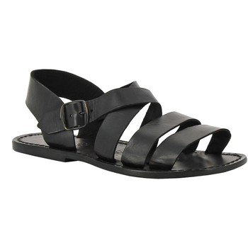 Sapatos Mulher Sandálias Gianluca - L'artigiano Del Cuoio 508 U NERO CUOIO nero