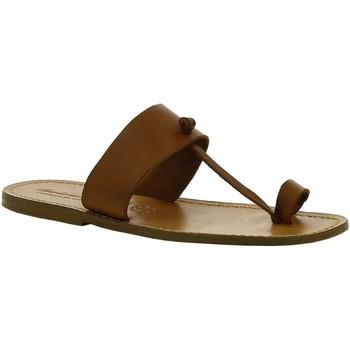 Sapatos Mulher Botas baixas Gianluca - L'artigiano Del Cuoio 554 U CUOIO CUOIO Cuoio